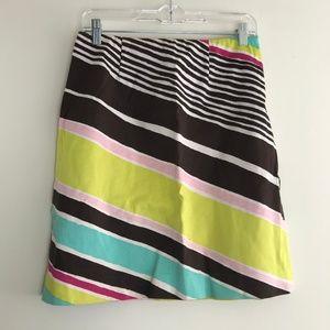 Etcetera Cotton Blend Pencil Stripe Skirt